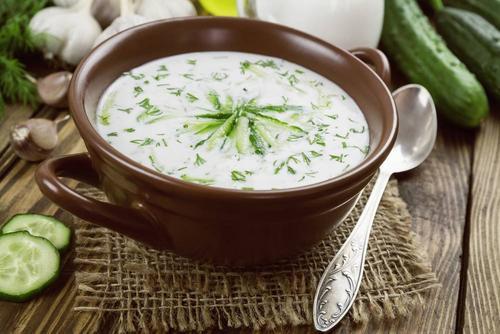 黄瓜酸奶汤:开胃消暑、调节肠道菌群